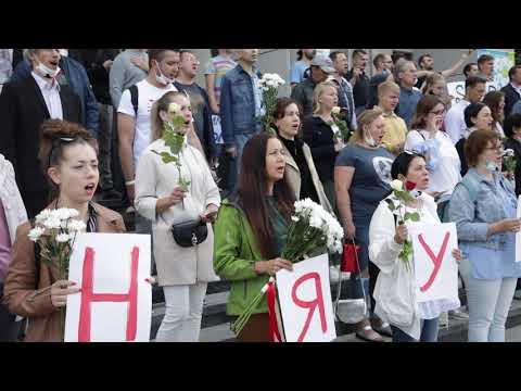 Песня фашистов в Минске.
