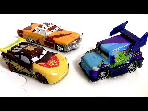 color - Welcome to blutoys. These are Tex Dinoco, Pistoncup Lightning McQueen and DJ Tunerz Color Changers Cars of Disney Pixar using the Thomas The Tank Engine & Friends Muddy Adventure Portable Fold-out...