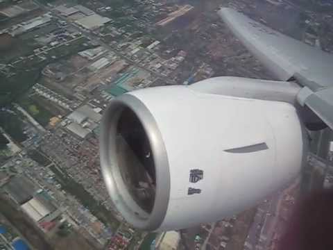 Boeing 777 Takeoff – Thai Airways full view superloud full trust Rolls Royce Trent 800 jet engines