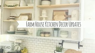 Farm House Kitchen Decor UpdatesItems:Rug- TargetGlass Soap bottles- HomeGoods