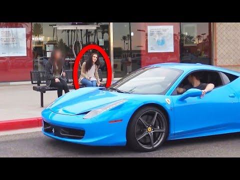 See What She Did When She Saw He Has A Ferrari!