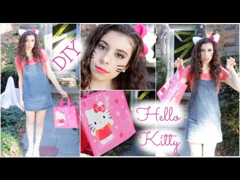 Hello Kitty DIY Halloween Tutorial: Makeup, Hair, & Costume!