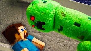 MINECRAFT PLUSHY ADVENTURE - Creeper Murders Steve!