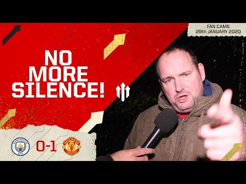 A DIFFERENT SIDE TO OLE! Man City 0-1 Man Utd EFL Cup   Andy Tate Fan Cam