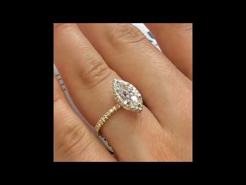 1 carat Marquise Diamond Engagement Ring