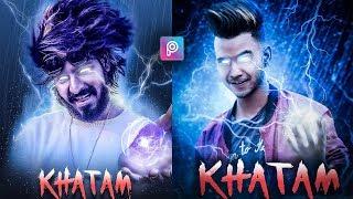 PicsArt Emiway Bantai Khatam Song Poster Photo Editing Tutorial in Picsart Step by Step in Hindi