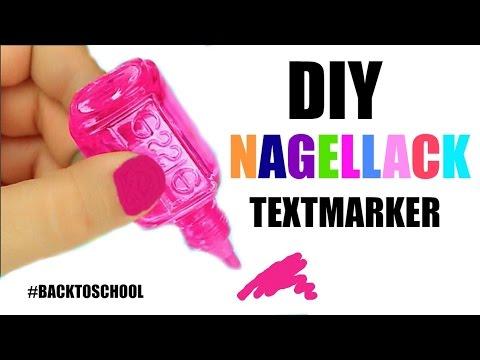 DIY: NAGELLACK TEXTMARKER #BACKtoSchool l Sara Desideria
