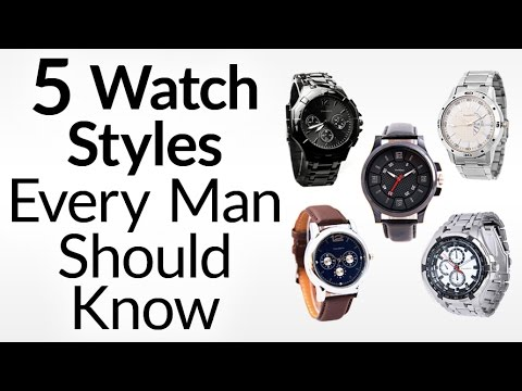 , title : '5 Watch Styles Every Man Should Know | Men's Guide To Dress, Dive, Aviator, Field & Racing Watches'