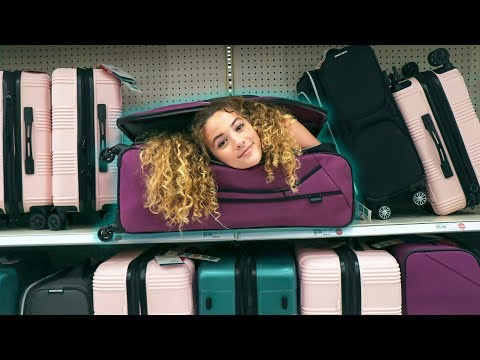 TRUTH or DARE: I FIT INTO A SUITCASE IN PUBLIC!!