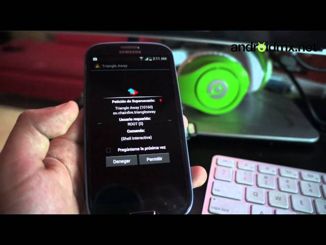 Flash counter reset en Galaxy S, SII, SIII, Note y Tab - Triangle Away