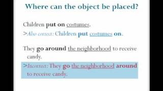 Phrasal Verbs Structure, English Grammar Lesson 18