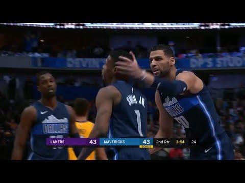 2nd Quarter, One Box Video: Dallas Mavericks vs. Los Angeles Lakers