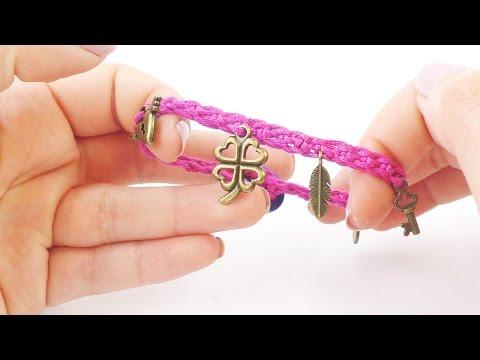 Süßes Sommerarmband häkeln | Bettelarmband selber machen | einfach für Anfänger | Charms