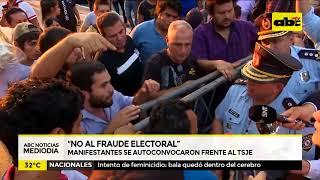 """""""No al fraude electoral """""""