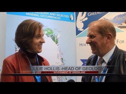 Julie Hollis (Greenland Dept Mineral Resources) is Interviewed by Tim Mckinnon at Mines and Money