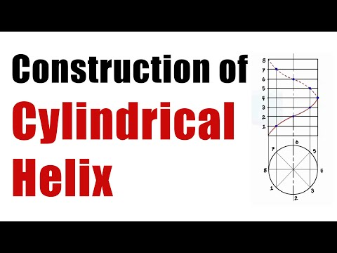 Draw a  CYLINDRICAL HELIX CURVE - Engineering Curves - Engineering Drawing