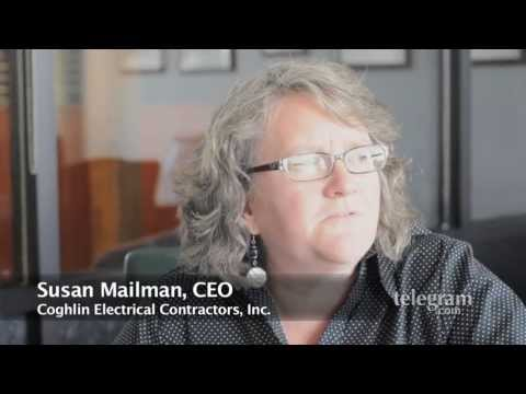 Massachusetts Mail Man - Worcester, MA - Susan Mailman is the fourth-generation Coghlin to preside over Coghlin Electrical Contractors and Coghlin Network Services at 100 and 130 Pre...