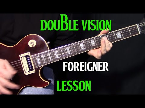 "How To Play ""Double Vision"" By Foreigner - Guitar Lesson"