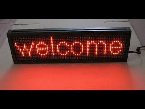 TISHITU LED Message Board Display By 8051 Microcontroller & Hyper Terminal via Rs232 Communication