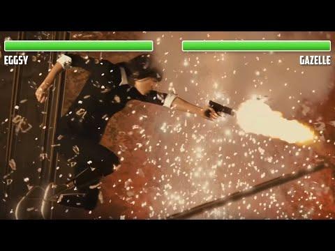 Eggsy vs. Gazelle WITH HEALTHBARS   Final Fight   HD   Kingsman: The Secret Service