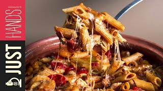Oven baked Penne with cheese & bacon  Akis Kitchen Subscribe: https://goo.gl/z44Ems Recipe: ...