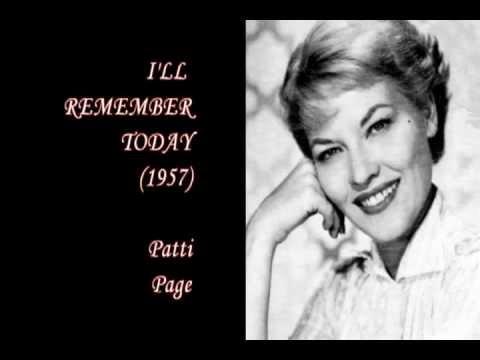 Patti Page - I'll Remember Today lyrics