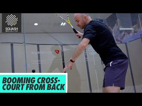Squash Tips: Booming Cross-Court From Back With Jesse Engelbrecht