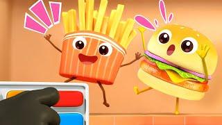 La Hamburguesas y Las Patatas Fritas | Canciones Infantiles | BabyBus Español