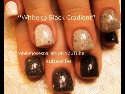 Shades of Grey Ombre Nails