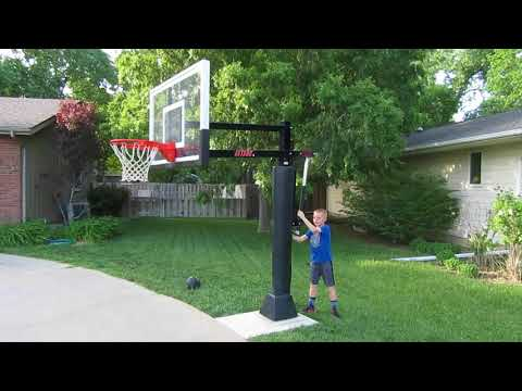 Attack™ In Ground Adjustable Basketball Goal