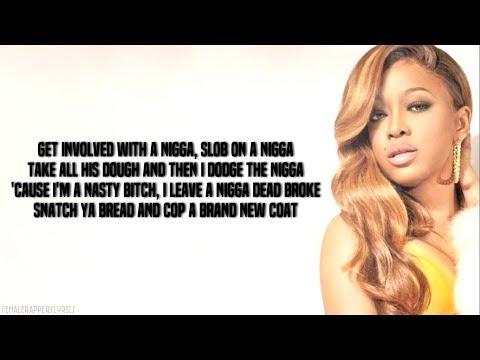 Trina - Nasty Bitch (Lyrics - Video)