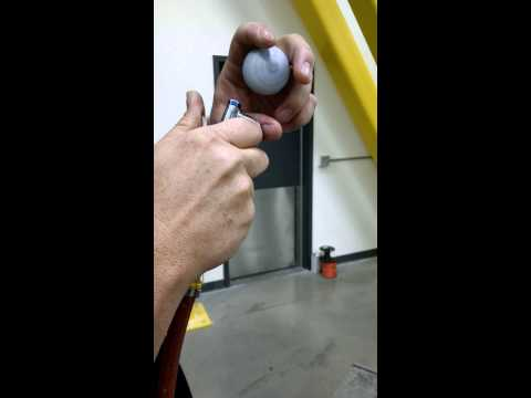Spinning-up a golf ball using only compressed air and your hand.
