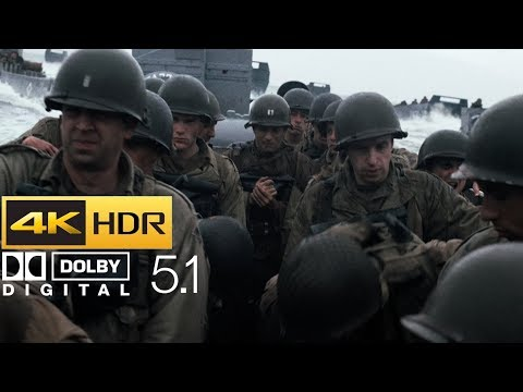 Saving Private Ryan - Omaha Beach Scene (HDR - 4K - 5.1)