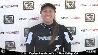 2021 Kaylee Rae Escutia Power Hitting First Base and Outfield Softball Skills Video - Easton Preps