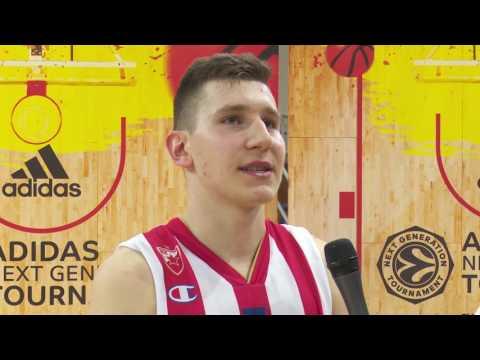 ANGT Belgrade: MVP Interview, Aleksa Uskokovic, U18 Crvena Zvezda mts Belgrade