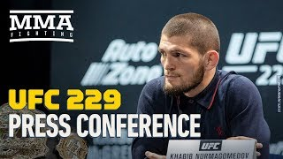 Video Khabib Nurmagomedov vs. Conor McGregor UFC 229 Pre-Fight Press Conference - MMA Fighting MP3, 3GP, MP4, WEBM, AVI, FLV Februari 2019