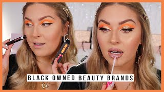 full face using BLACK OWNED beauty brands! 💖 by Shaaanxo