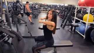 Seated Cable Rows for REAR DELTS TRAINING: IFBB Bikini Pro, Michele D'AngonaThis is a great exercise to do if your goal is to work those rear delts! Out of the three main shoulder muscles, the rear delts are the toughest to hit. Cable rows like this one make it easier to trigger the rear deltoid muscles & get that burn going almost immediately!