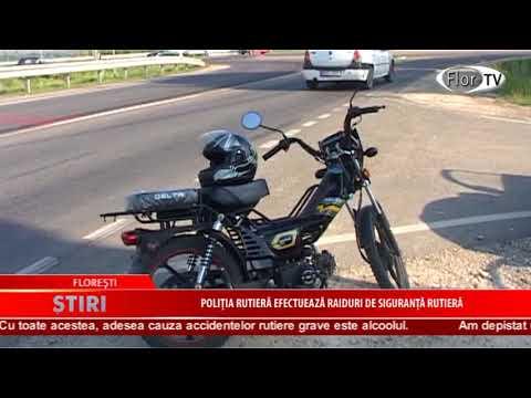 Poliția rutieră efectuează raiduri de siguranță rutieră