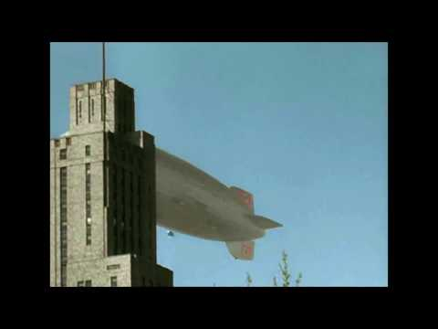 Unique color footage of The Graf Zeppelin and Hindenburg