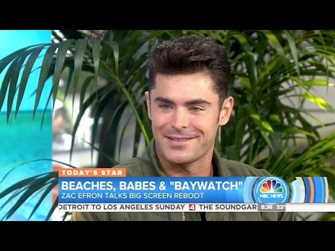 Zac Efron - Baywatch Movie (Working Out Keep Up With The Rock) - Today Show