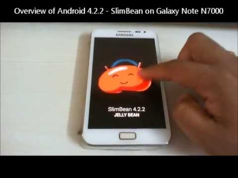 Android 4.2.2 On Galaxy Note GT-N7000 (SlimBean ROM)