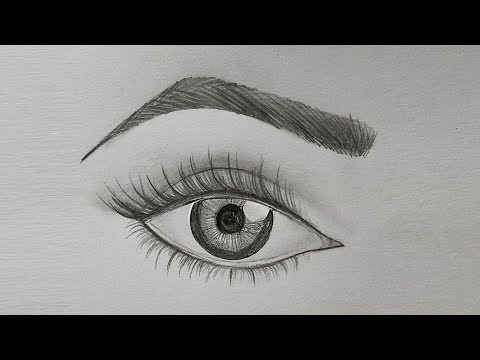 How To Draw Eye & Eyebrow Step By Step (very Easy)