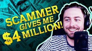 Video REFUND SCAMMER GIVES ME $4,000,000   SCAMBAIT TROLLING MP3, 3GP, MP4, WEBM, AVI, FLV September 2019
