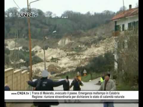 Frana di Maierato, evacuato il paese. Emergenza maltempo in Calabria