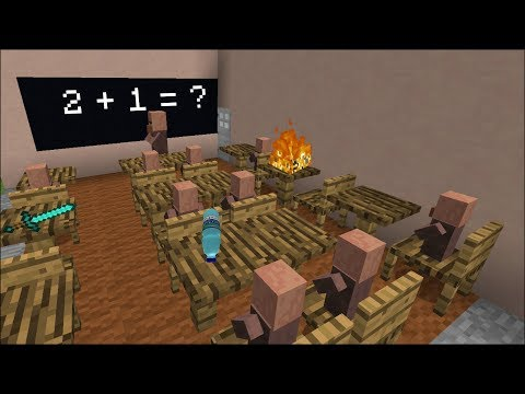 Minecraft VILLAGER SCHOOL CLASSROOM / FIND OUT THE MADNESS OF THE VILLAGERS !! Minecraft
