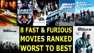 Nonton 8 Fast & Furious Movies Ranked Worst to Best Film Subtitle Indonesia Streaming Movie Download