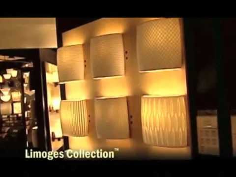 Video for Limoges Dark Bronze Modular 4-Light Bath Bar with Flared Sqare Sawtooth Porcelain Shades