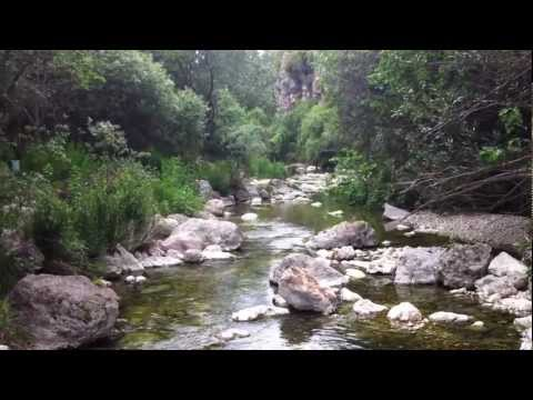 Sierra de Alicante, Barranco de la Encantada, sonido del rió tipo Zen y Lucho.MOV