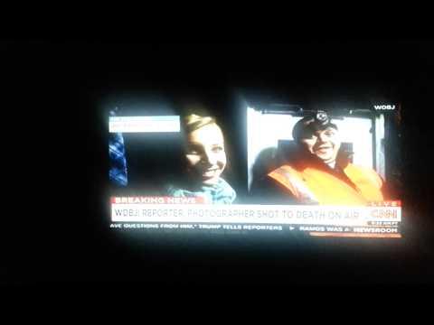 Roanoke live TV morning news shooting  8/26/15